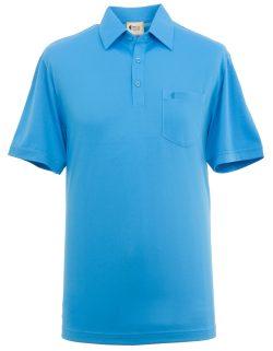 Blue man's polo shirt