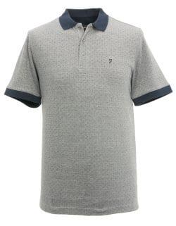Grey man's polo shirt