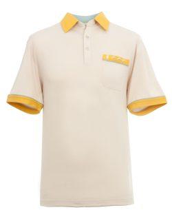 Yellow man's polo shirt