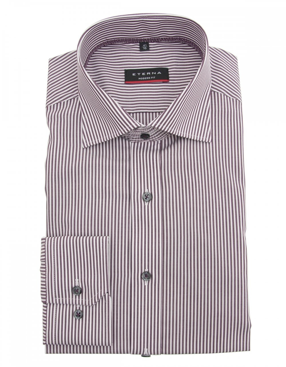 Eterna wine striped shirt