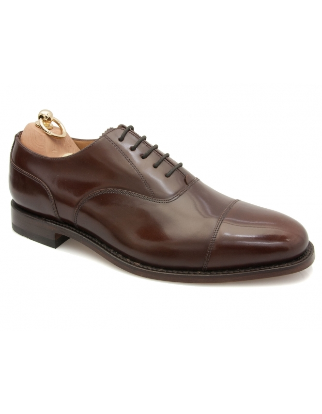 Loake 200CH Capped Oxford Lace Shoe - Brown