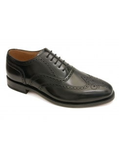 202 Black Polished Brogues