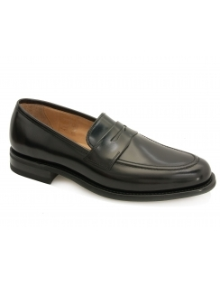 211B Polished Saddle Loafer - Black