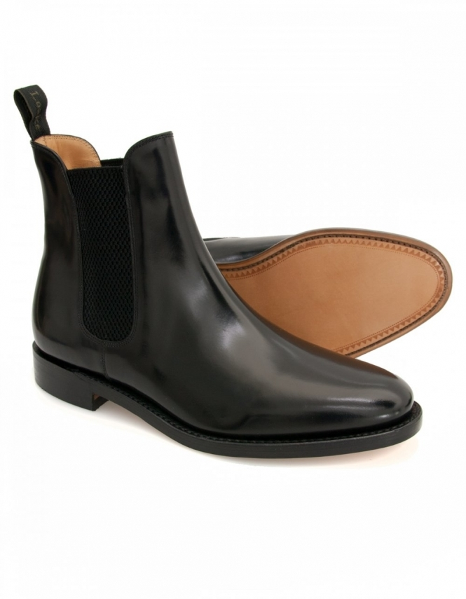 Loake 290B - Black Polished Chelsea Boots