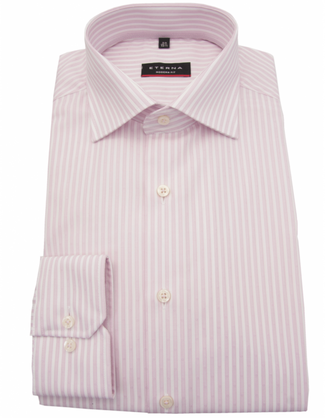 Eterna 4253 Modern Fit Pure Cotton Bengal Stripe Shirt - Pink