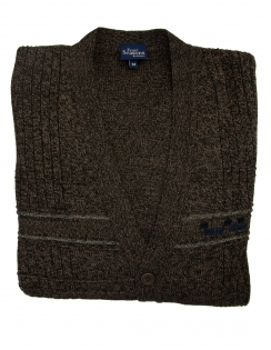 5 Button College Cardigan - Brown
