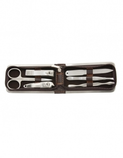6 Piece Manicure Set - Brown