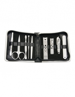 9 Piece Manicure Set - Black