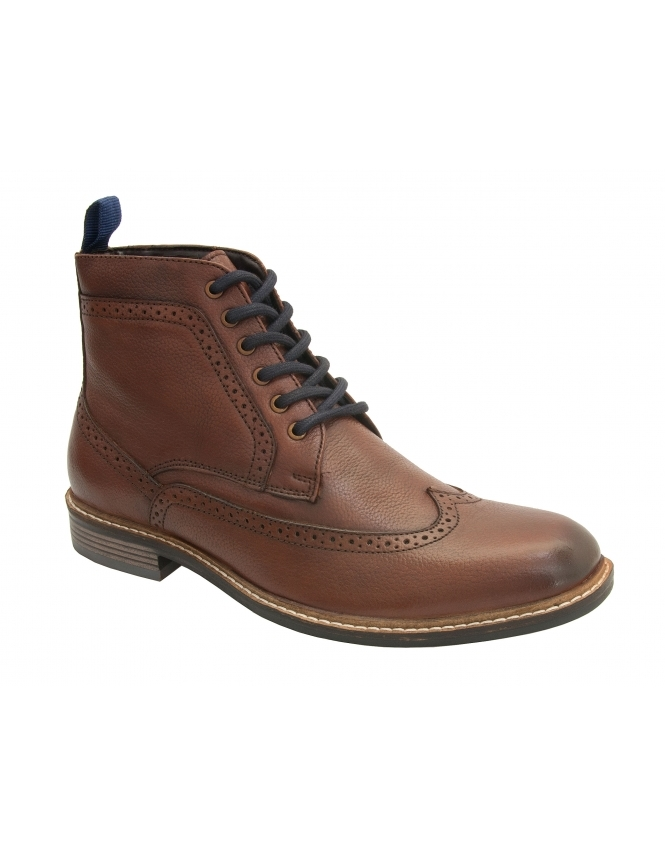 Lotus Aldridge Leather Brogue Boot - Brown