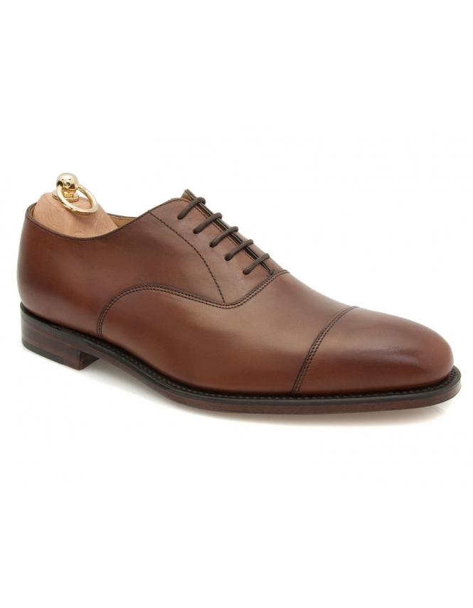 Loake Aldwych burnished calf oxford shoe - Mahogany
