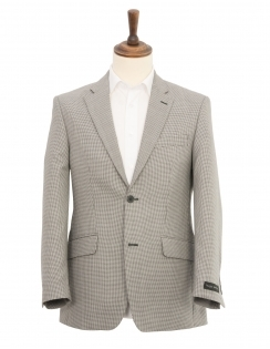 Alfred Brown Dogtooth Jacket - Black & White