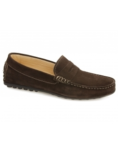 Amalfi Suede Saddle Moccasin - Brown