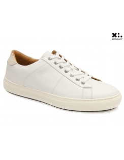 Bari Leather Sneaker - White