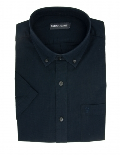 Barnett Pure Cotton Half Sleeve Shirt - Navy