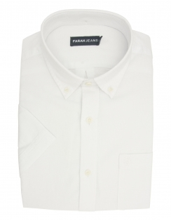 Barnett Pure Cotton Half Sleeve Shirt - White