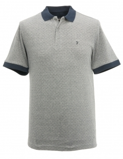 Bateman Pin Dot Polo Shirt - Grey