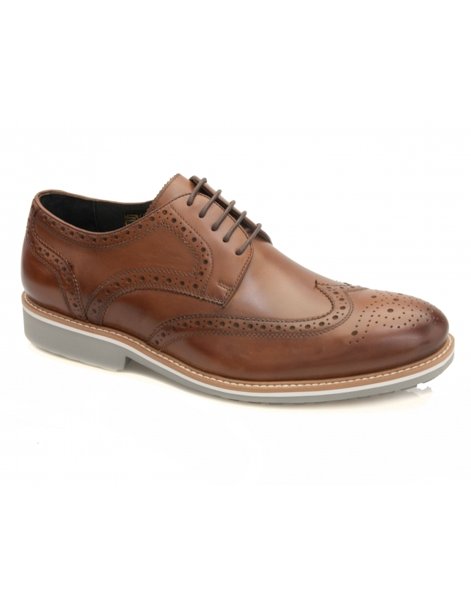 John White Belton Calf Brogue - Tan