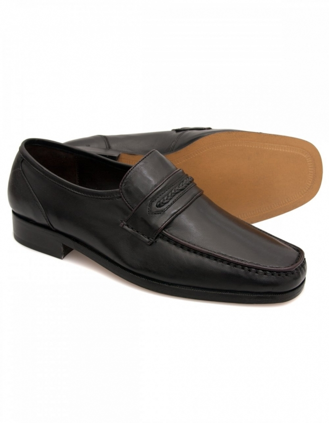 Maybury Ben Black Leather Casual Moccasins