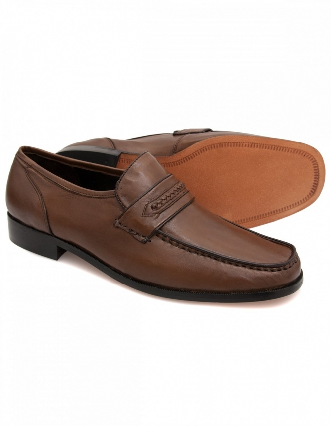 Maybury Ben Tan Leather Casual Moccasins