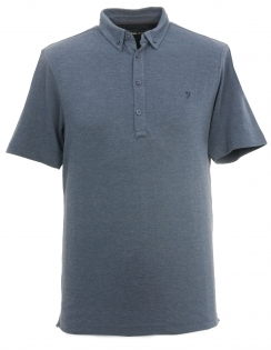 Buchanan Button Down Polo Shirt - Blue