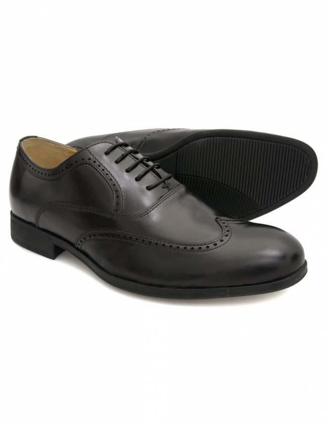 Steptronic Bugatti Leather Brogues - Black