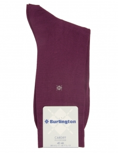 Burlington Cardiff Plain Sock - Grape