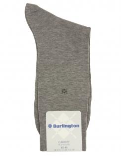 Burlington Cardiff Plain Sock - Grey