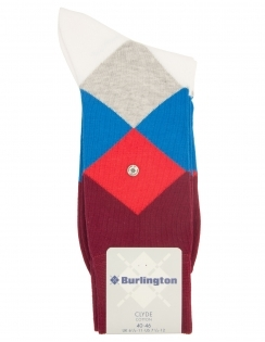 Burlington Clyde Argyle Sock - Grape