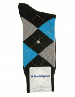 Burlington King Argyle Sock - Black Tri