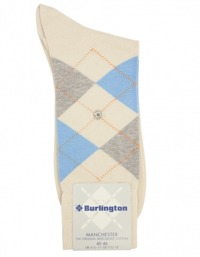 Burlington Manchester Argyle Sock - Beige