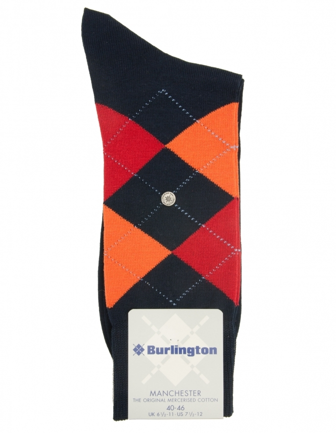 Burlington Manchester Argyle Sock - Dark Navy