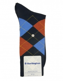 Burlington Manchester Argyle Sock - Navy