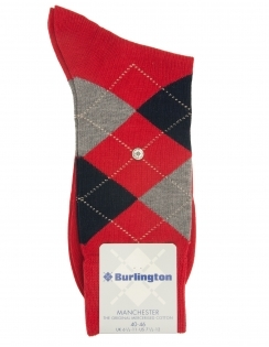 Burlington Manchester Argyle Sock - Red