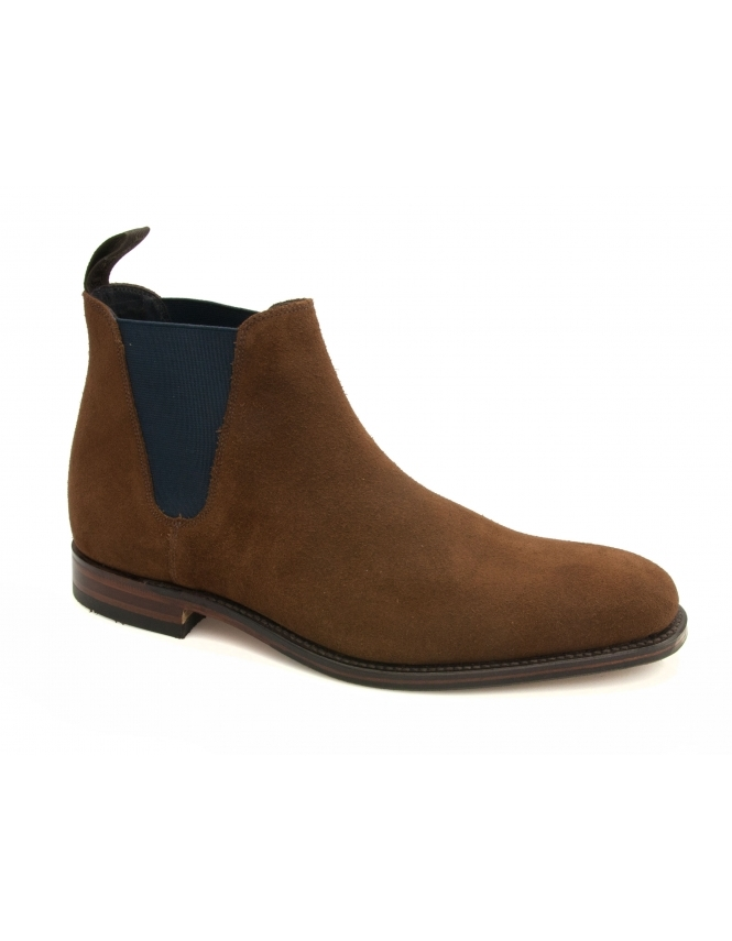 Loake Caine Suede Chelsea Boot - Brown