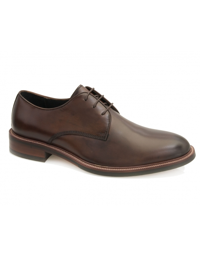 John White Cannon Calf Leather Derby - Brown