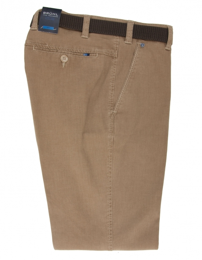 Bruhl Catania Cotton Chino With Stretch Waistband - Sand