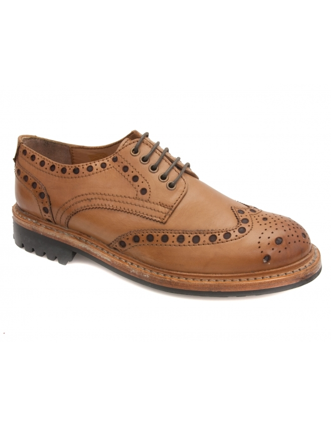Lotus Cavendish Leather Brogue - Tan