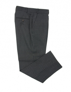 Charcoal Chalk Stripe Pure New Wool Suit Trouser