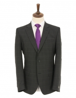 Charcoal Overcheck Wool Rich Suit