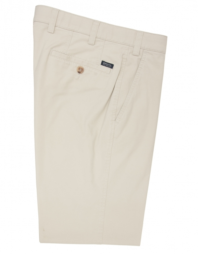 Bruhl Chester Cotton Chino With Stretch Waistband - Beige