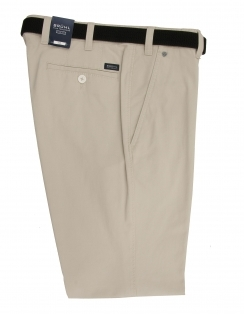 Chester Cotton Chino With Stretch Waistband - Beige