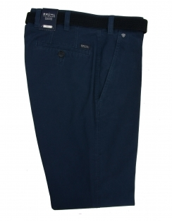 Chester Cotton Chino With Stretch Waistband - Blue