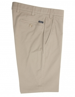 Chester Cotton Chino With Stretch Waistband - Dark Beige