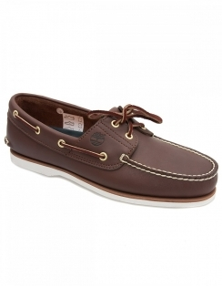 Classic 2 Eye Boat Shoe - Dark Brown