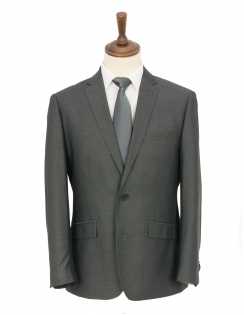 Classic 2pc Suit - Grey Pin Dot
