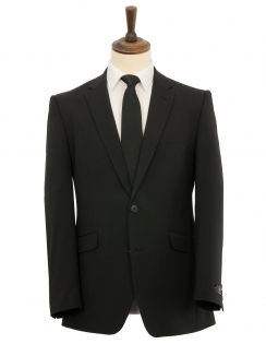 Classic Fit Suit Jacket - Black