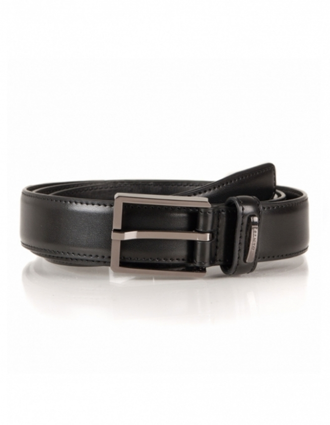 Dents Classic Leather Lined 30mm Belt - Black