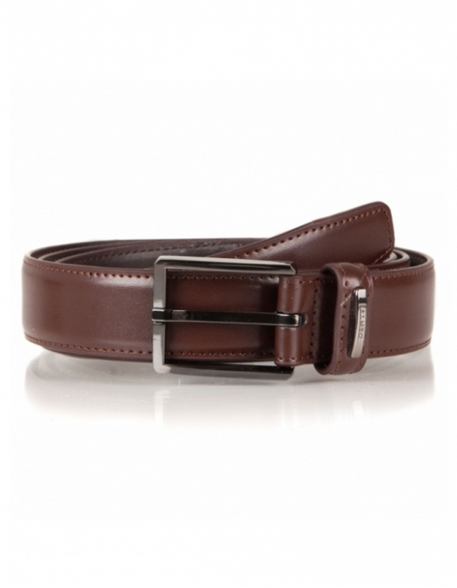 Dents Classic Leather Lined 30mm Belt - Brown