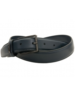 Classic Leather Lined 30mm Belt - Navy