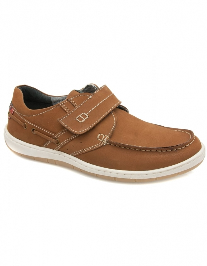 Lotus Clifford Leather Velcro Shoes - Tan